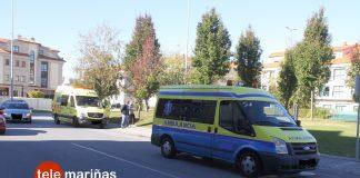Un vecino de Baiona herido al colisionar su moto con una ambulancia en Sabarís