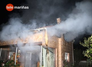 Una estufa de leña provoca el incendio de una casa de Randufe