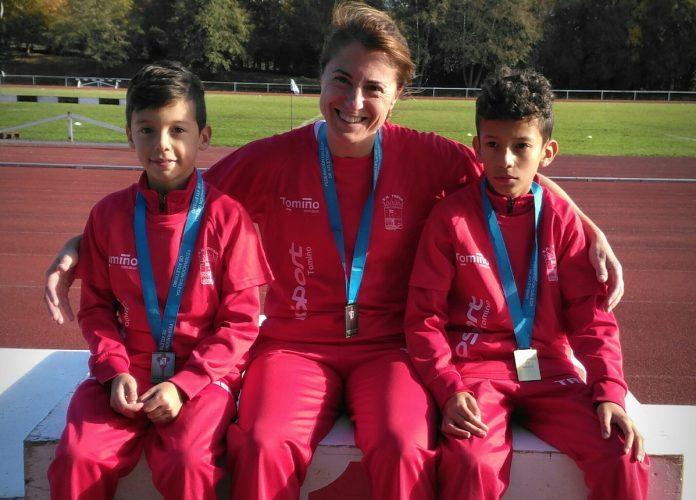 Dos oros y una plata en Lugo para el Atletismo Trega de Tomiño
