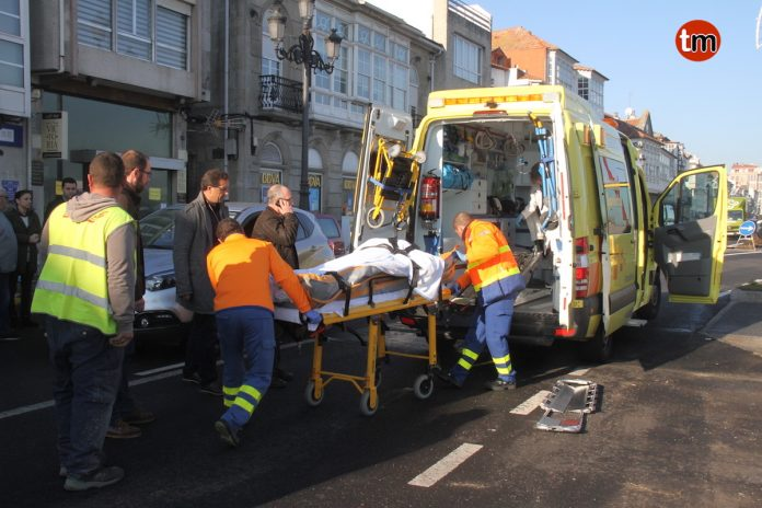 Atropellado un anciano en un paso de cebra en Baiona