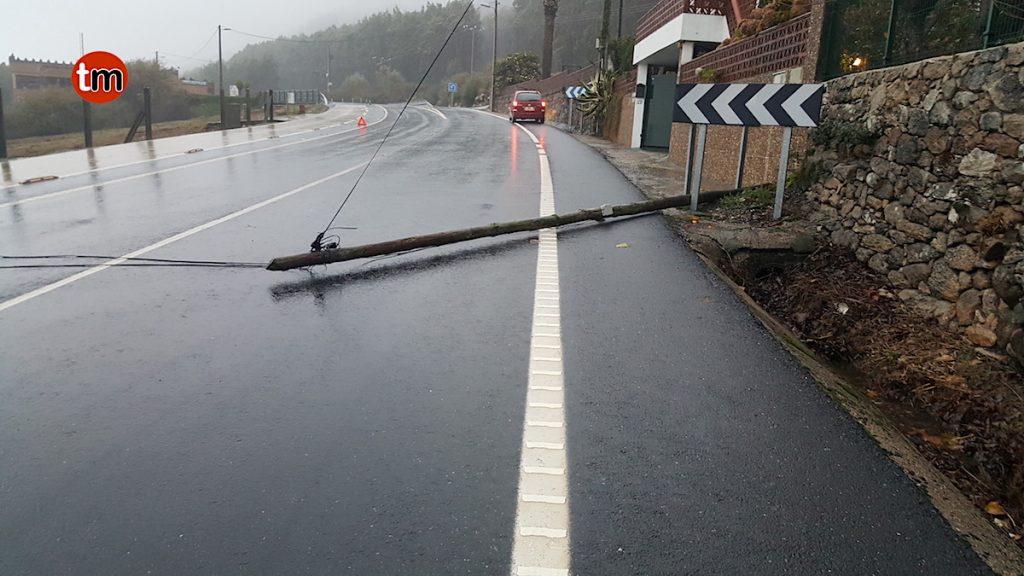 Ana deja cientos de incidencias y vientos de más de 150 km/h en Oia