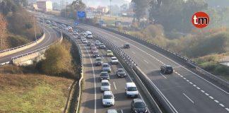Retenciones kilométricas en Tui para acceder a Portugal