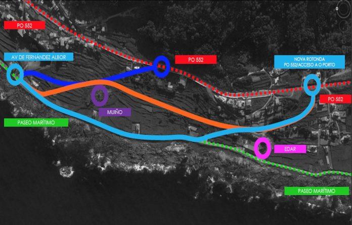 Presentan los estudios de trazado para el nuevo acceso al puerto de A Guarda