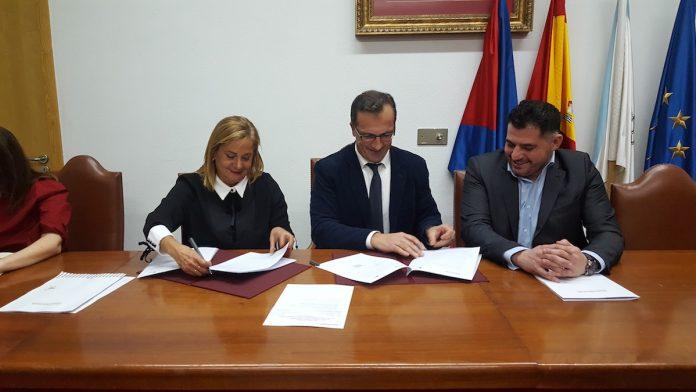 entre la Diputación de Pontevedra y el Concello de Baiona,
