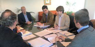 Xunta y Concello analizan el proyecto para mejorar la seguridad viaria en la PO-331, a su paso por Vincios