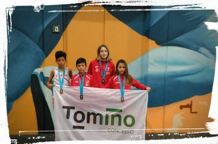 Un oro, una plata y dos bronces para el Atletismo Trega en el campeonato gallego de pista cubierta