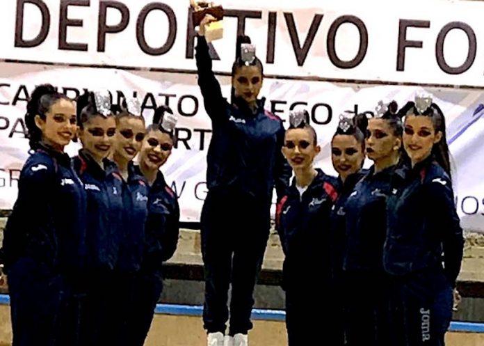 El Club de Patinaxe Artística Gondomar, campeón gallego de grupos Show