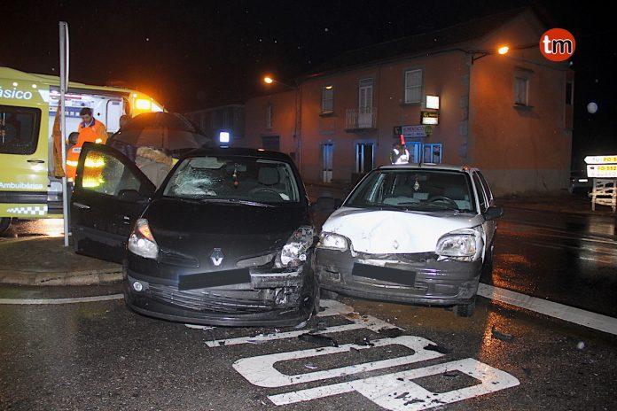 Nuevo accidente de tráfico en el cruce del empalme de Tomiño
