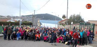 Más de 170 peregrinos portugueses recorren el Camino de Santiago entre Baiona, Nigrán y Coruxo