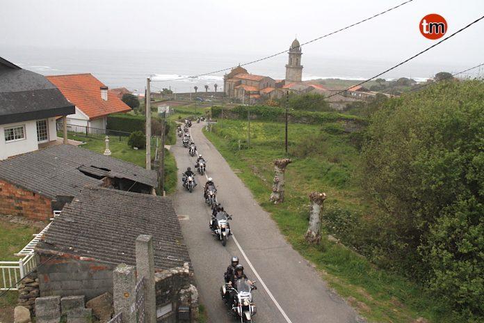 Cientos de motos Vulcan toman las carreteras de O Baixo Miño y O Val Miñor
