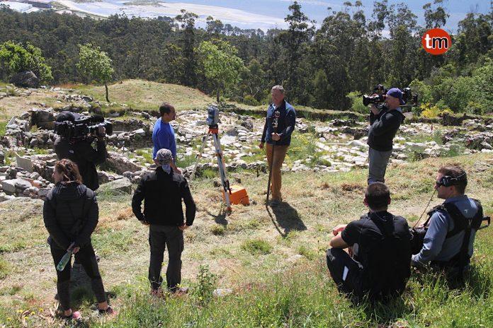 La televisión norteamericana ABC graba un documental en el monte Santa Trega de A Guarda