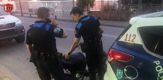 Interceptan en Gondomar un ciclomotor con la placa de matrícula de una moto robada en O Rosal