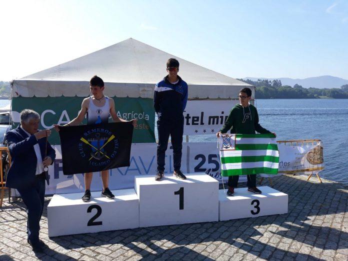 Oro y plata para el Club Remo Tui en la XIII Regata Internacional Ponte da Amizade