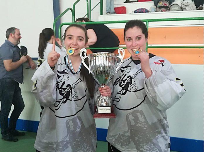 Dous guardesas compioas da Liga Galega de Hockey Liña