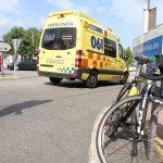 Herido un ciclista vigués en la rotonda de A Ramallosa