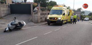 Herido de gravedad un sexagenario en un accidente de moto en Peitieiros