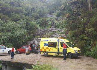 Rescatado un vigués que se precipitó por un barranco en As Pozas de Mougás