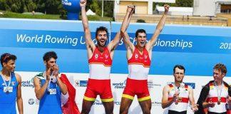 El remero Rodrigo Conde, del Club Remo do Miño, campeón del mundo de remo