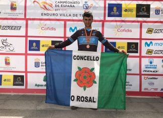 El rosaleiro Mario Fernández, bronce en el campeonato de España de Enduro BTT