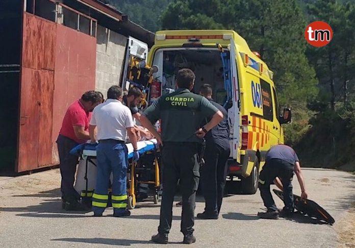 Herida una persona al caerse del caballo que montaba en Mougás