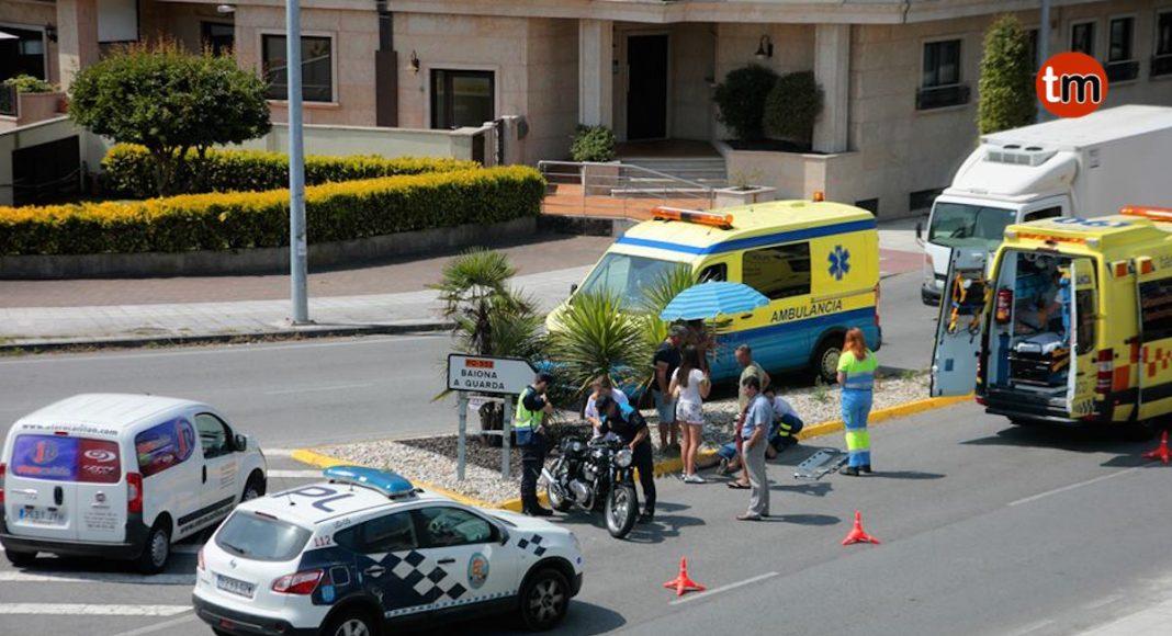 Nuevo accidente de moto en la rotonda de Sabarís