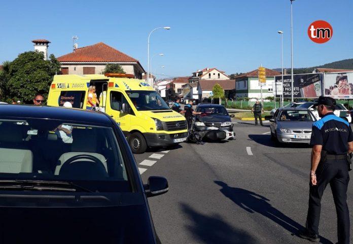 Tres accidentes dejan dos heridos en Baiona y Tomiño y un positivo en Nigrán