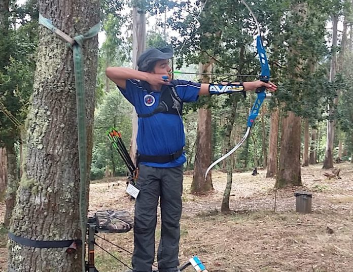 El tomiñés Adrián Millán se proclama campeón gallego de tiro con arco