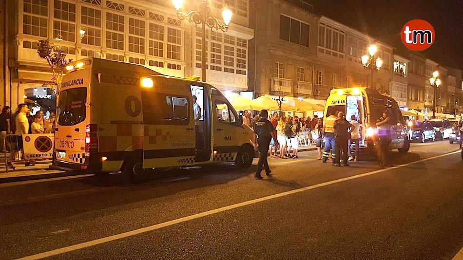 Al menos cinco heridos al desplomarse un falso techo de un restaurante de Baiona