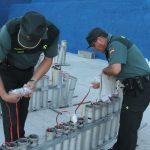 La Guardia Civil inspeccionó los fuegos artificiales que esta noche iluminarán el cielo de A Guarda