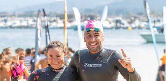 Sergio Torres y Andrea de la Hera se imponen en la travesía Cíes y Baiona
