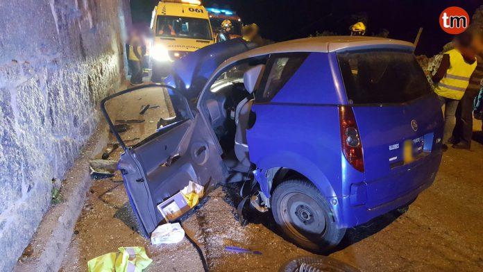 Herido un septuagenario al chocar con su coche sin carnet con otro vehículo en Tomiño