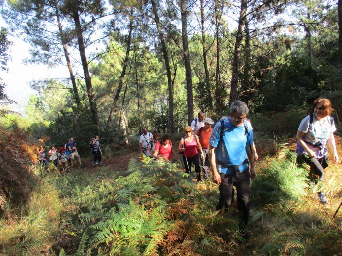 Vecinos de A Guarda y Caminha participan en una andaina por el monumento natural Pena Corneira