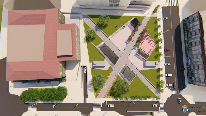 La trasera del Área Panorámica será una zona verde con un parking subterráneo para 300 vehículos