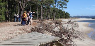 Se inician los trámites para solucionar los destrozos en el litoral del Río Miño