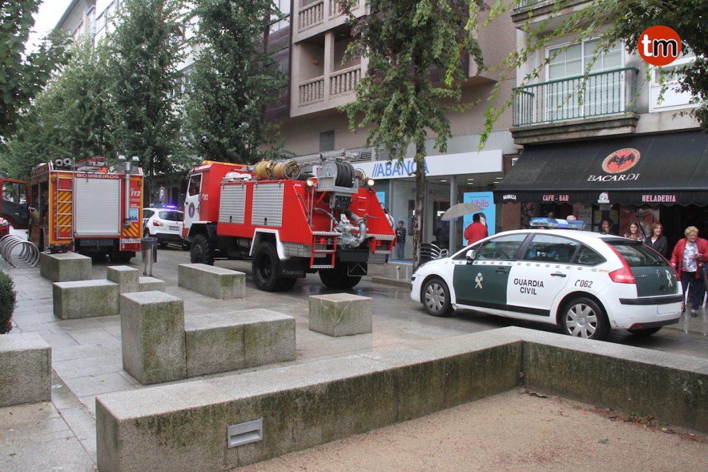 El incendio de un calentador en Baiona moviliza al GES de O Val Miñor