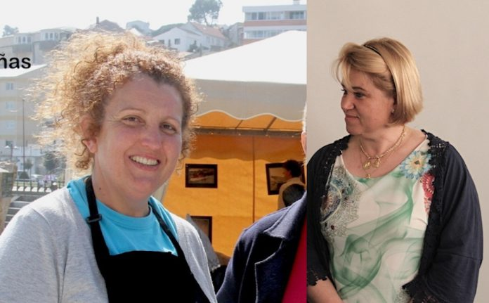 Susana González y Silvia Crespo revalidan el cargo como patronas mayores de Baiona y A Guarda