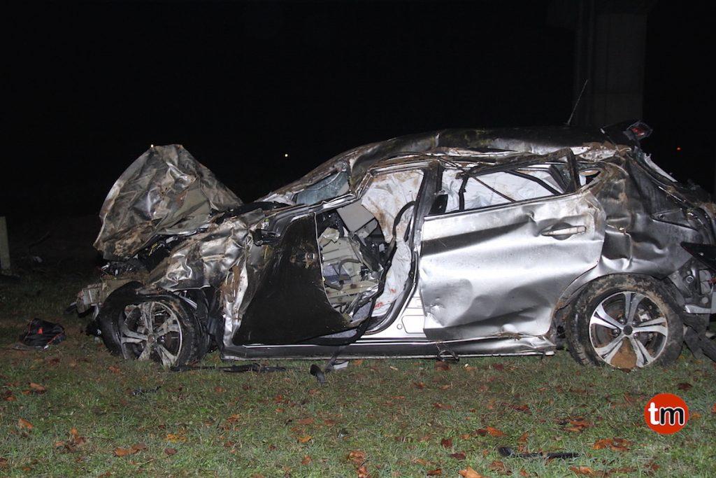 Fallece un vigués de 42 años tras caer con su coche desde un viaducto de 20 metros en Valença