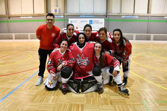 Debut do equipo feminino de A Guarda Hockey Liña na Liga Galega