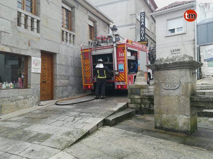 Una falsa alarma de incendio moviliza al GES de O Val Miñor en Baiona