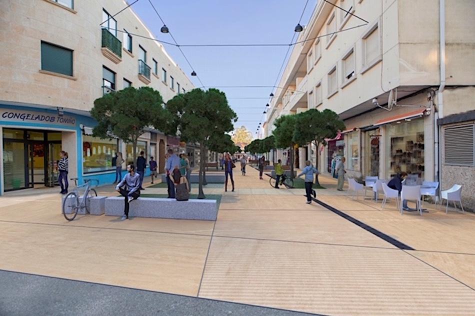 Tomiño humaniza las calles A Guarda y R. Argentina para convertir la Plaza de O Seixo en un gran espacio público