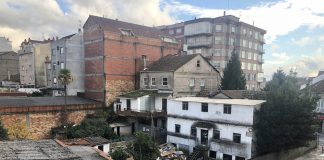 Comenzaron las obras de apertura de la calle Ourense en Tui