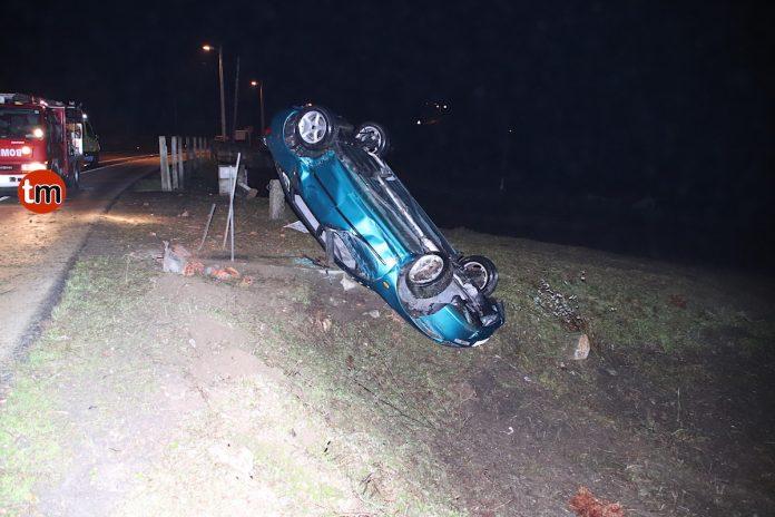 """Nuevo accidente en la denominada """"Curva de la muerte"""" de Oia"""