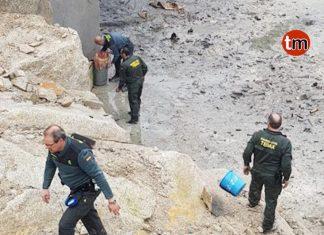 La Guardia Civil destruye 2.800 kilos de explosivos de la pirotecnia de Tui