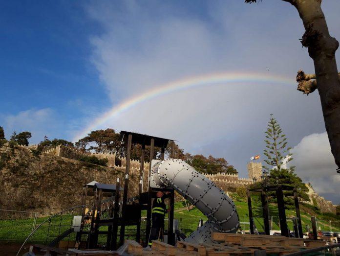 Baiona prevé finalizar las obras del parque infantil de A Palma el próximo mes de enero