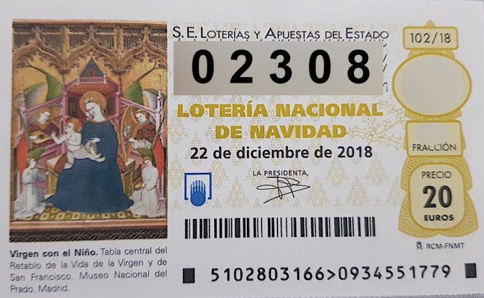 Lotería de Navidad 2018: Quinto premio 02.308