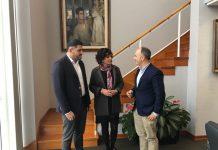 Encuentro entre el delegado de Zona Franca y la alcaldesa de Tomiño para estudiar vías de colaboración