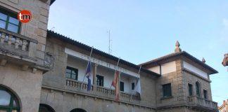 El Concello de Nigrán con las banderas a media asta