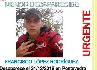 Se busca a un menor de 17 años desaparecido en fin de año en Pontevedra