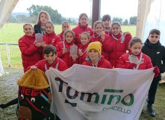 Dieciséis pódiums para el club atletismo Trega en el campo a través escolar de O Baixo Miño