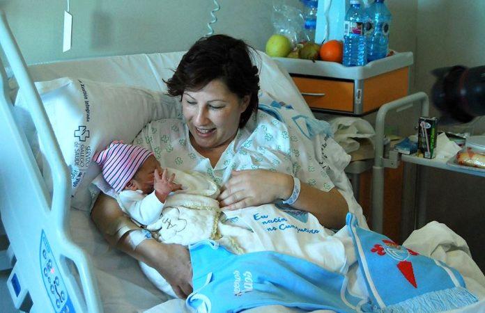 El primer bebé nacido en Galicia es de Goián